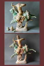 Antique Chinese horse and rider