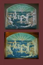 Arts and Crafts Della Robbia wall plaque
