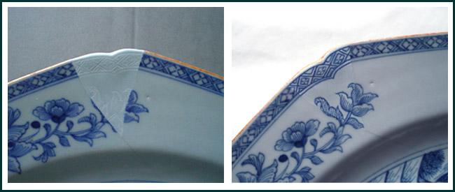 Repairing a Delft Plate
